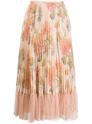 Red Valentino Micro Pleated Floral Skirt 60