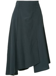 Des Pres Asymmetric Style Skirt Green