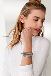 Urban Outfitters Beaded Box Chain Wrap Bracelet Silver