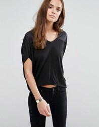 Wal G V Neck Sweater Black