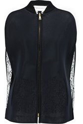 Vionnet Mesh And Lace Jacket Blue