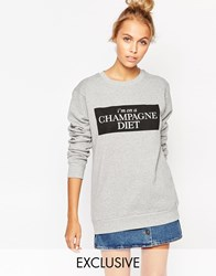 Adolescent Clothing Christmas Sweatshirt With Champagne Print Lightgreymelange