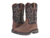 Ariat Workhog Wide Square Wp Insulated Rye Brown Coffee Men's Work Boots