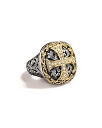 Diamond Cross Ring Konstantino