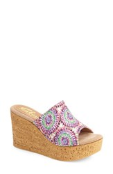 Women's Sbicca 'Starboard Vintage Collection' Psychedelic Print Wedge Purple Fabric