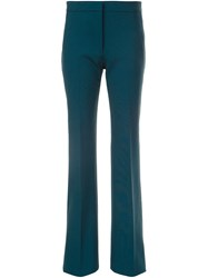 Victoria Beckham Tailored Straight Trousers Green