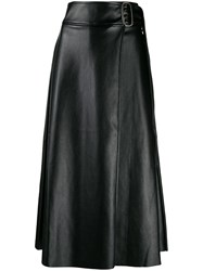 Each X Other Vegan Leather Wrap Skirt Black