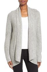 Nic Zoe Petite Women's Pixel Pop Open Cardigan Heather Grey