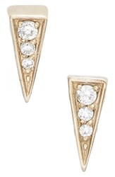 Women's Melinda Maria 'Mini Pyramid' Pave Stud Earrings