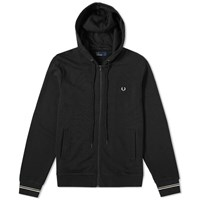 Fred Perry Hooded Sweat Black