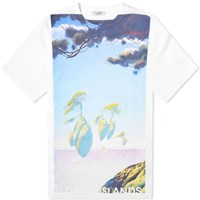 Valentino X Roger Dean Floating Island Tee White