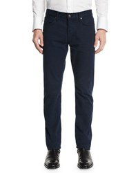 Tom Ford Straight Fit Solid Wash Denim Jeans Navy