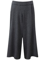 Pure Collection Nadia Knitted Culottes Charcoal