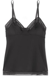 Eres Seventies Mesh Trimmed Stretch Jersey Camisole Gray