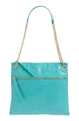 Hobo 'Dayna' Convertible Leather Shoulder Crossbody Bag Blue Turquoise