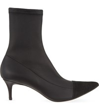 Haider Ackermann Pointed Leather Ankle Boots Black