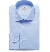 Hackett Blue Mayfair Slim Fit Cotton Poplin Shirt