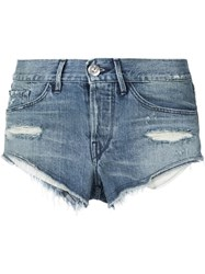 3X1 Distressed Shorts Blue