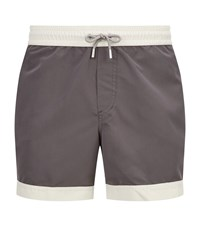 Brunello Cucinelli Contrast Trim Swim Shorts Grey