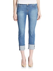 Kensie Jeans Cuffed Cropped Jeans Lucky Blue
