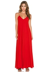 Indah Penda Pocket Maxi Dress Red