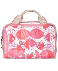 Vera Bradley Go Fish Beach Cosmetics Case Go Fish Coral Fish School Coral