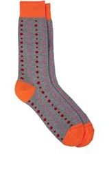 Richard James Mixed Dot Pattern Mid Calf Socks Grey