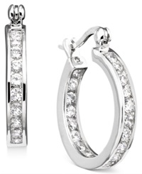 B. Brilliant Sterling Silver Cubic Zirconia Hoop Earrings 2 1 3 Ct. T.W.