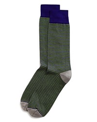 The Men's Store At Bloomingdale's Stripe Socks Medium Purple