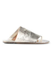 Marsell Thong Strap Sandals Metallic