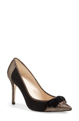 Lk Bennett 'Fluer' Pointy Cap Toe Pump Women Rose Gold Black