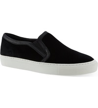 Sandro Aglae Velvet Slip On Trainers Black