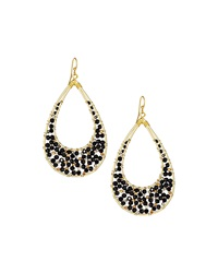 Nakamol Crystal Teardrop Dangle Earrings Black