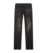 True Religion Washed Biker Slim Jeans Male Black