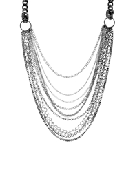 Pull And Bear Pullandbear Multirow Chain Necklace Silver