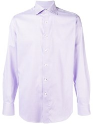 Canali Spread Collar Shirt Purple