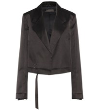 Calvin Klein Gilson Satin Jacket Black