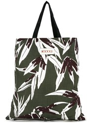 Marni Convertible Shopper Tote Green