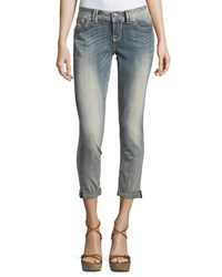 Miss Me Faded Skinny Mid Rise Denim Jeans Light Wash 90