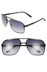 Men's Carrera Eyewear 64Mm Navigator Sunglasses Matte Black Grey Gradient