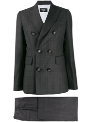 Dsquared2 Checked Two Piece Suit Black