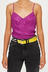 Topshop Zebra Mixed Animal Belt Yellow