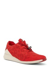 Cole Haan Studiogrand Pack And Go Suede Sneaker Goji Brry