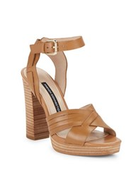 French Connection Gilda Platform Sandal Heels Beige