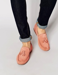 Asos Loafers In Suede Coral