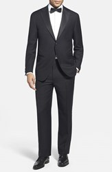 Corneliani Men's Big And Tall Trim Fit Wool Tuxedo Black