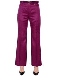 Nina Ricci Wool And Silk Gabardine Flared Pants