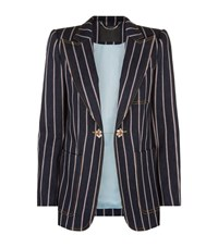 Marc Jacobs Selvedge Stripe Denim Blazer Female Navy