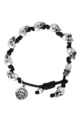 King Baby Studio Men's Skull Bead Bracelet