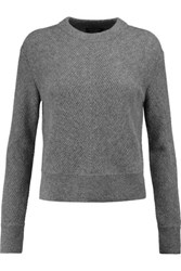 Rag And Bone Alexis Ribbed Cashmere Sweater Gray